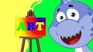 Динозаврик Дэнни - Учим цвета. Все серии подряд - Обучающие мультфильмы для малышей