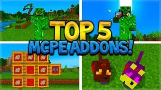 TOP 5 BEST ADDONS For Survival Minecraft Pocket Edition (iOS, Android, PC, Xbox, Switch)