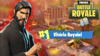 FORTNITE - VITORIA ROYALE COM SKIN DO JOHN WICK !!!