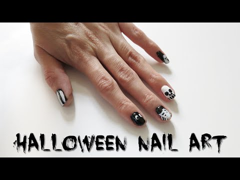 5 Halloween Black & White Nail Art Designs