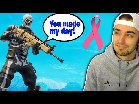 I played Fortnite with a kid battling Cancer... (Making his day!)