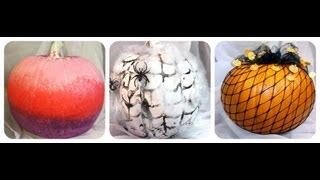 DIY 3 Ways to Decorate a Pumpkin! (No carving)