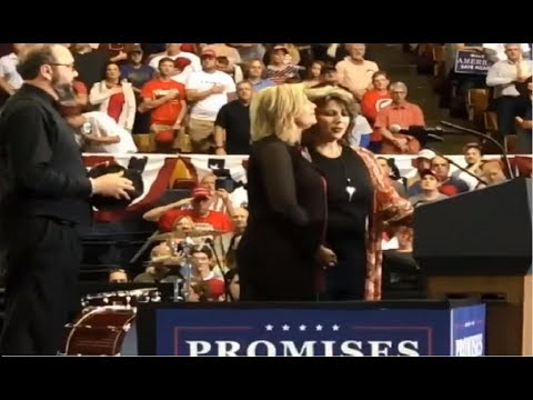 Audience loved The Isaacs singing the National Anthem at the President Trump Rally in Nashville, TN!