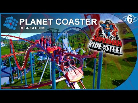 Planet Coaster - Recreations 06 - Superman - Six Flags New England USA