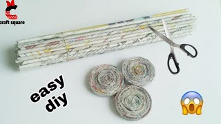 DIY-how to a newspaper craft idea/best use of old newspaper/newspaper basket idea/recycle newspaper