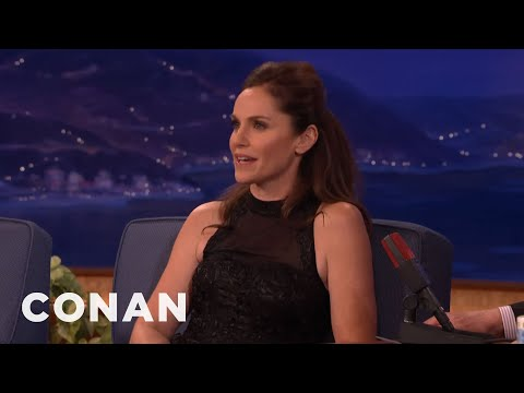 Amy Brenneman Is Hot For Her TV Son   CONAN on TBS