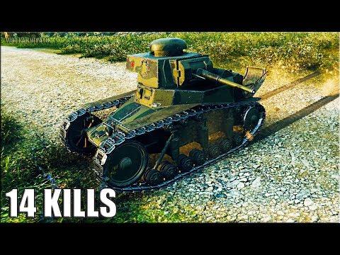 Вот как играть на танке МС-1 лучший бой 14 фрагов за бой World of Tanks