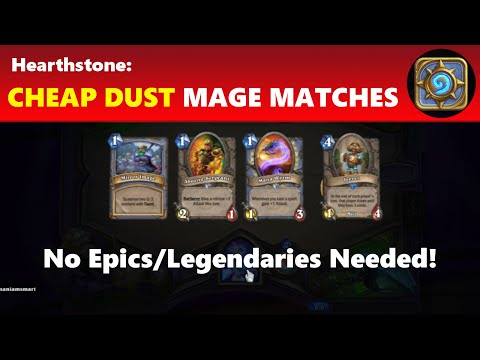 Hearthstone: No Legendaries or Rares – Updated Cheap Dust Tempo Mage Spell Deck | Hearthstone Guide