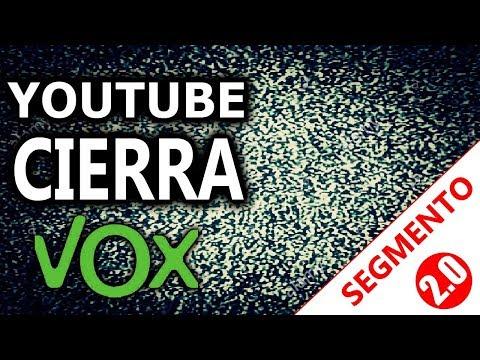 YouTUBE cierra la cuenta de VOX
