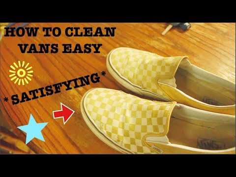 how to clean your vans EASY *sAtIsFyInG*