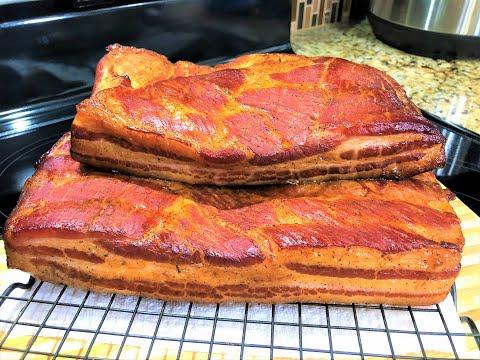 Как приготовить копченый бекон из свинины в домашних условиях