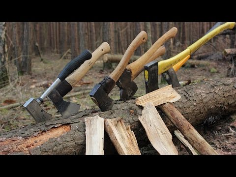 Axe Madness! Using 7 different Axes & Hatchets in the Woods + Camp Fire Cooking