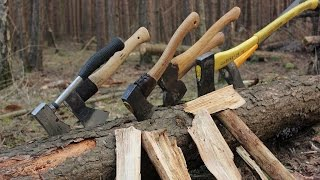 Baixar Axe Madness! Using 7 different Axes & Hatchets in the Woods + Camp Fire Cooking