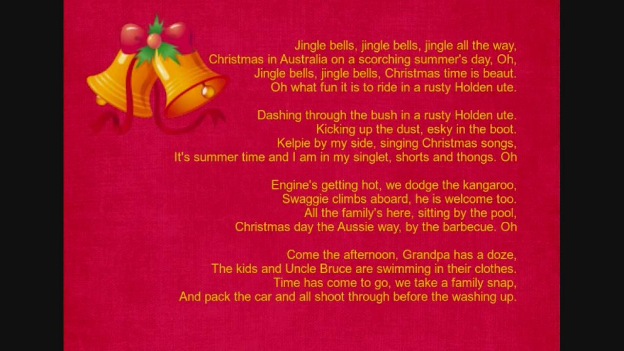 Australian Jingle Bells Lyrics Aussie Jingle Bells Lyrics