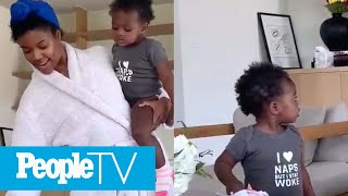 Gabrielle Union's Daughter Kaavia Adorably Fails Viral Patience Snack TikTok Challenge | PeopleTV