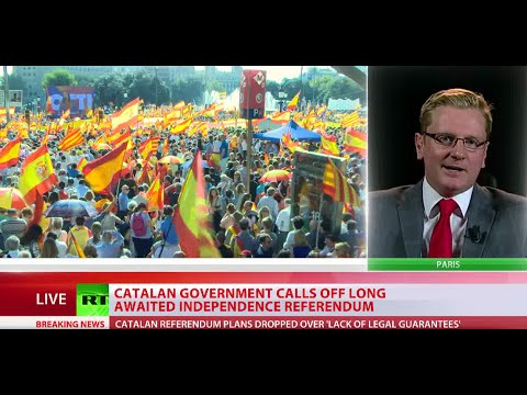 Catalan government calls off independence referendum