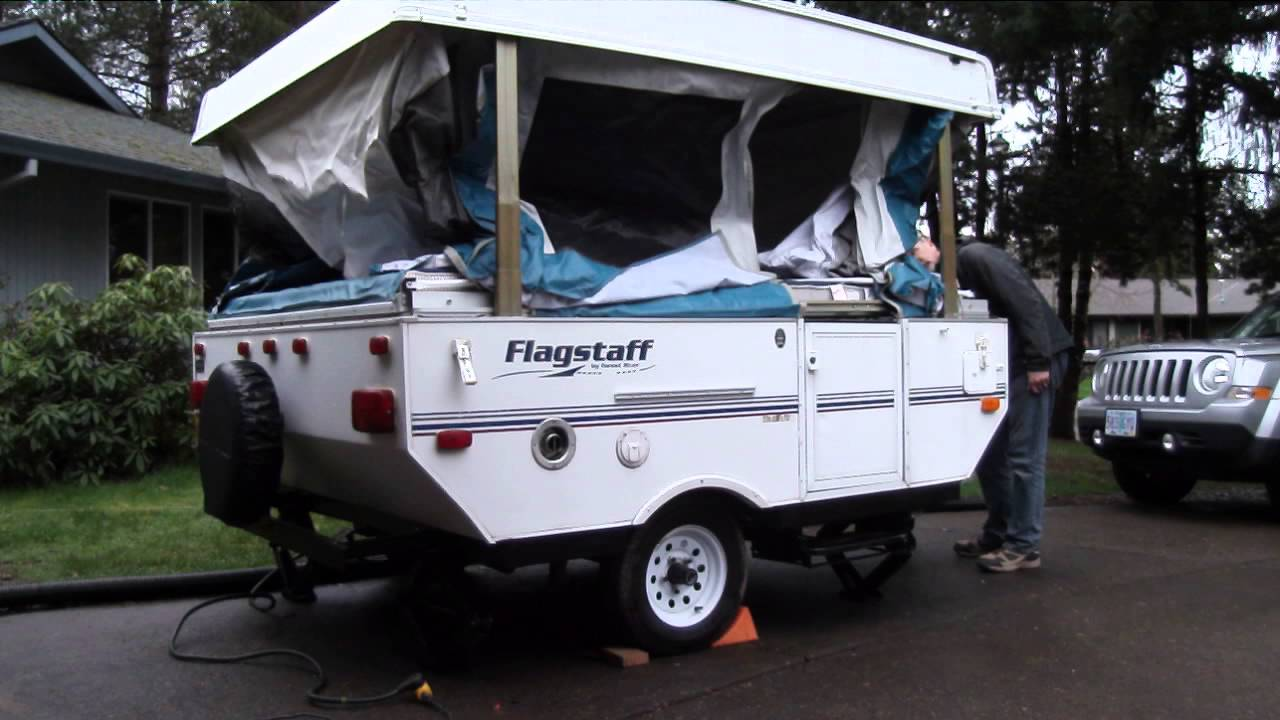 2002 Flagstaff Tent Trailer With Electric Lift Youtube