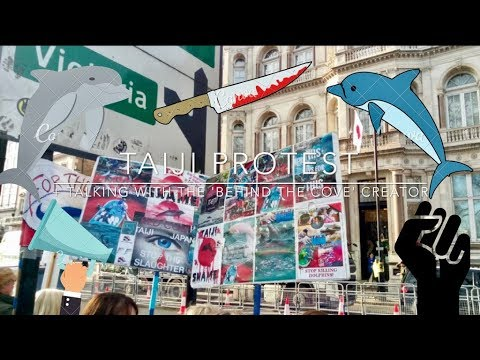 Taiji protest + speaking with 'behind the cove' creator