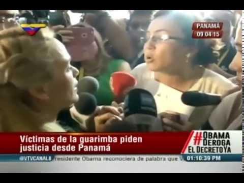 Víctimas de las Guarimbas confrontaron a Lilian Tintori en Panamá