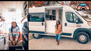 Her Stunning Dodge Promąster Camper Van W/ Shower & Toilet - Tiny House Life