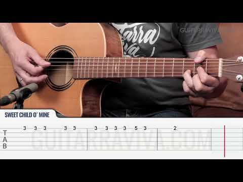 Sweet Child O Mine Melodía Guitar Tutorial TABS | Guitarra Cover Guitarraviva
