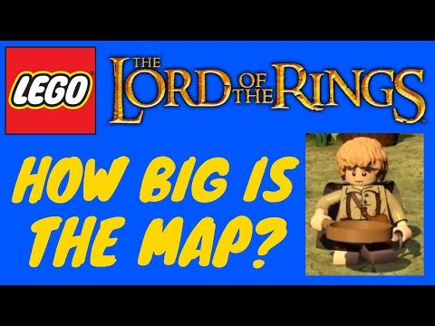 HOW BIG IS THE MAP In Lego: Lord Of The Rings? Run Across The Map