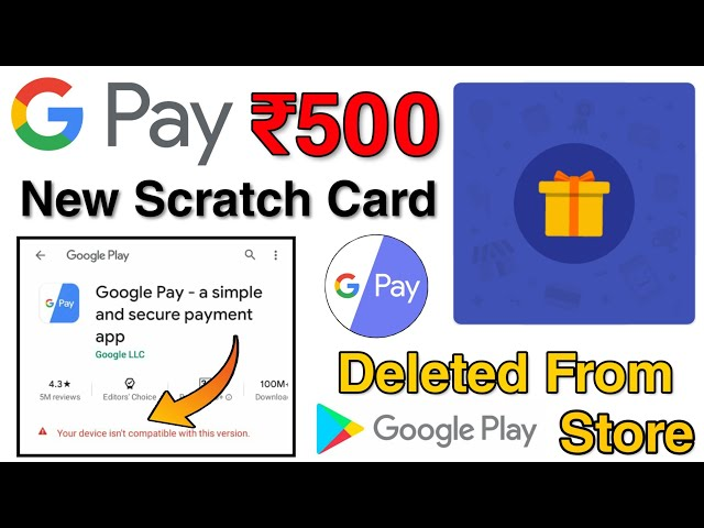 GooglePay Officially Deleted From PlayStore?😱 | GooglePay New Scratch Card Earn Upto ₹500 For All