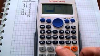 Media, Varianza y Desviación Estándar con tablas de frecuencia y calculadora CASIO fx-82ES-Plus