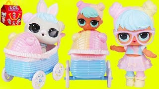 LOL Surprise Doll Bon Bon finds Custom Stroller for Pets and Visits Chicken Pox Doctor Lil Luxe Baby
