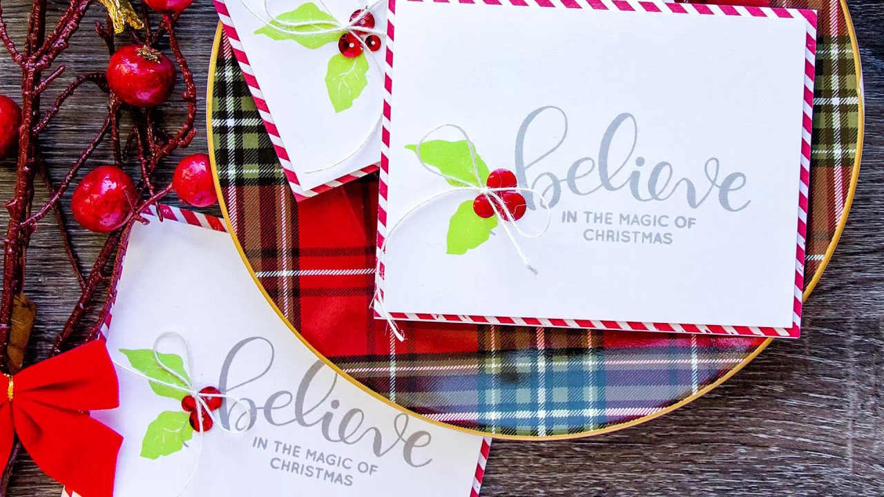 simple stamped christmas cards  youtube