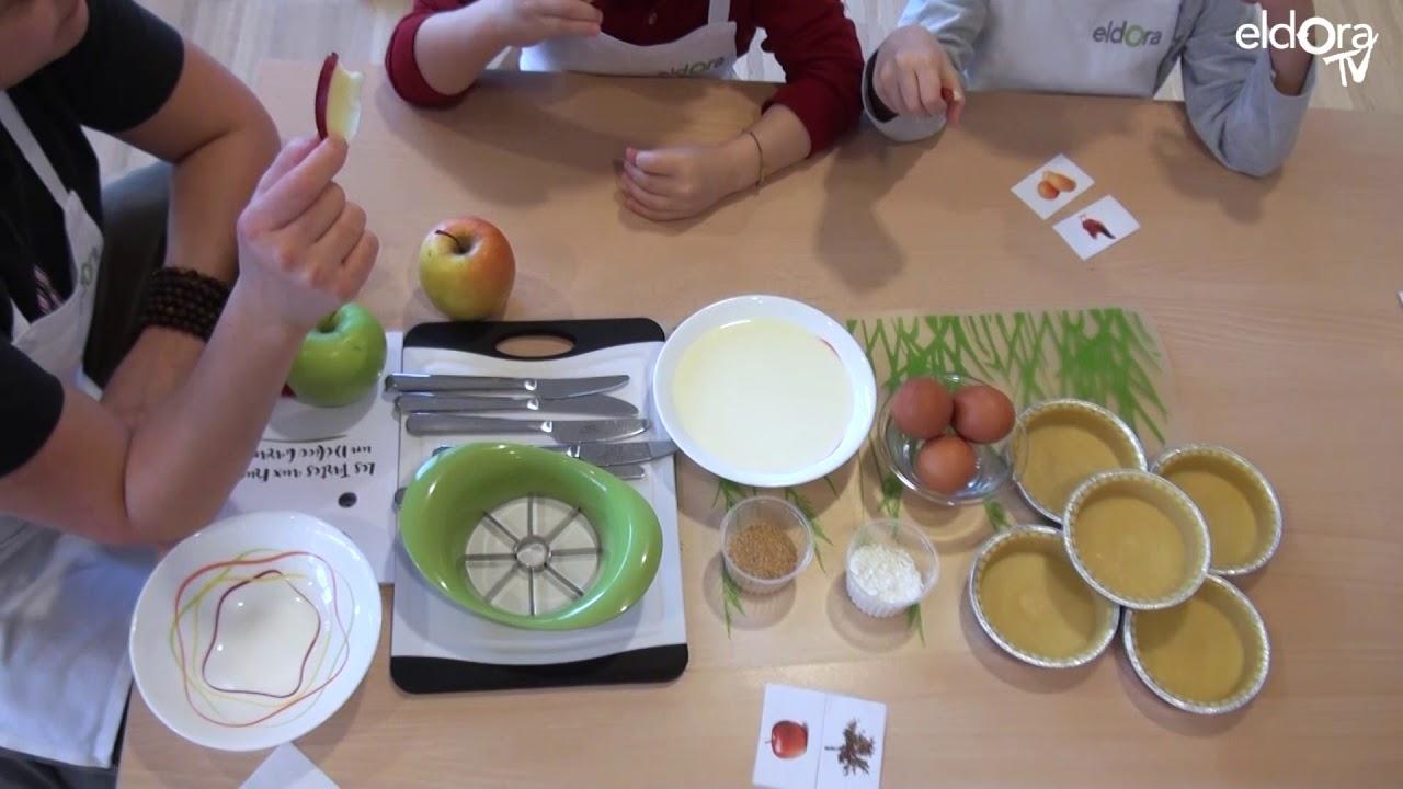 Atelier tartes aux pommes à la SAPE Thônex à Genève