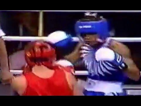 Бокс Альберт Пакеев-Даниэль Ревес   Олимпиада 1996 -51 кг 1/4