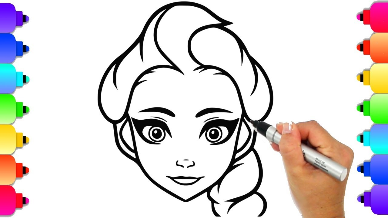 Coloring Elsa Frozen Disney Coloring Book Page How To Draw Elsa Easy F Frozen Coloring Pages Elsa Drawing Disney Coloring Pages