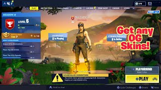How to get any OG skins in the lobby (Any Console) Fortnite Glitches Season 8 PS4/Xbox