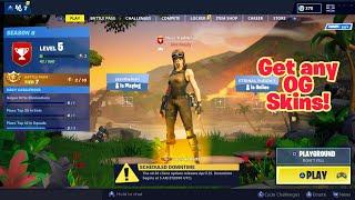 Comment obtenir des skins OG dans le hall (Any Console) Fortnite Glitches Saison 8 PS4/Xbox
