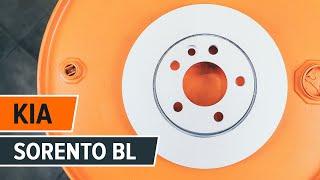Ako vymeniť zadné brzdové kotúče a zadné brzdové platničky na KIA SORENTO BL NÁVOD | AUTODOC