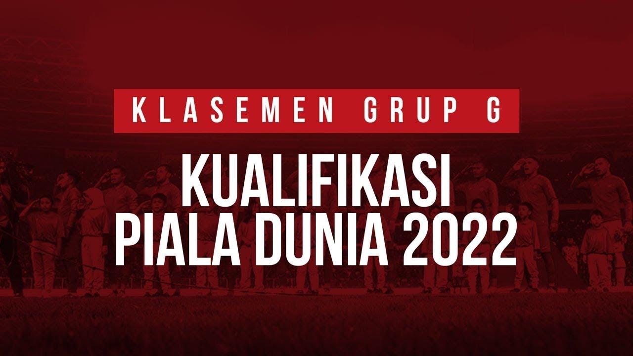 Klasemen Kualifikasi Piala Dunia 2022 Grup G Youtube