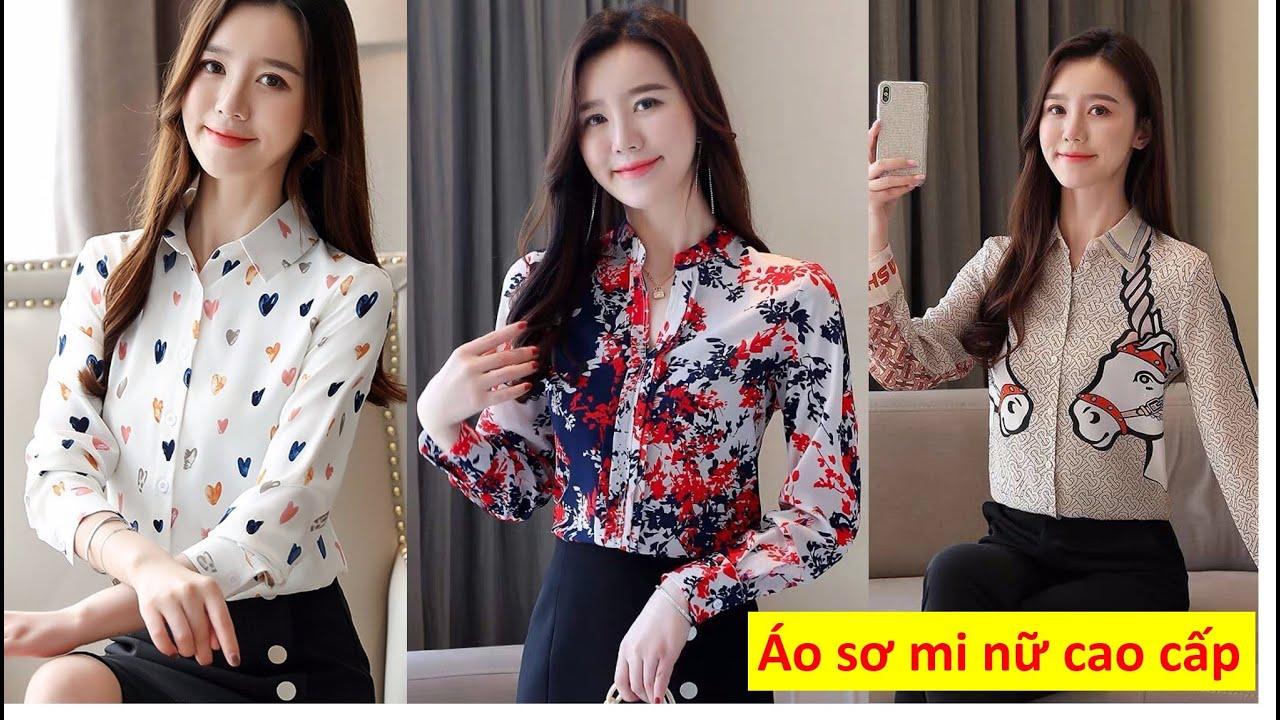 10 Kiểu Áo Sơ Mi Nữ Đẹp , sơ mi nữ cao cấp tay dài, hàng nhập chất liệu đẹp, mẫu áo sơ mi mới 2020