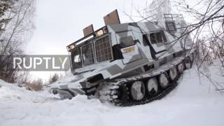 Russia  New amphibious all terrain truck swaps swamps for snow piles