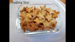 Pudina Star | Crispy Mint Star | Quick and easy Dry Snack recipe