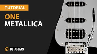 como tocar one de metallica en guitarra electrica clase tutorial