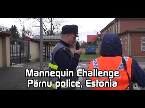 Pärnu politseijaoskonna mannekeeni väljakutse / Pärnu police station's mannequin challenge