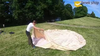 fenek.shop - Aufbauanleitung für das Luxus Camping Baumwollzelt 5m