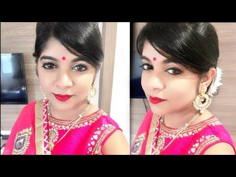 Indian Wedding Guest Makeup Hairstyle Tutorial श द