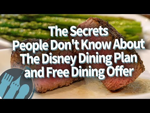 Disney Dining Plan SECRETS You Need To Know Before You Go To Disney World!