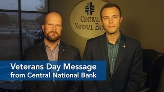 Veterans Day Message from Central National Bank