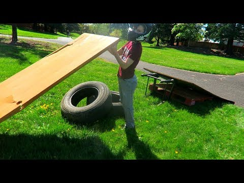 How To Build a BMX Jump Out of Free Junk
