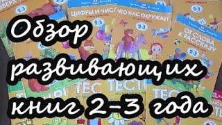 Развивающие книги для детей 2 -3 года . Земцова. Моя первая книга. Президентская школа.