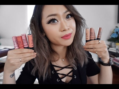 Nyx Soft Matte lip cream Try on & Review + New hair!!! :D