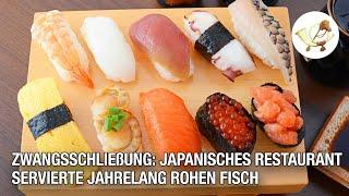 Zwangsschließung: Japanisches Restaurant servierte jahrelang rohen Fisch